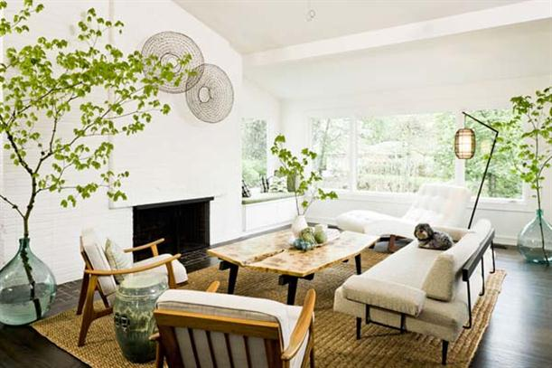 Main Lounge Natural and Modern Mid Century Interior Design