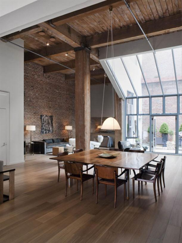 Dining table at Apartment Interior Design with Contemporary and Modern Style
