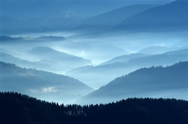 Autumn View From Mountains