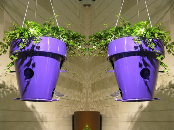 Nice Outdoor Flowerpot with BirdHouse O Nest O by De Castelli 1  - Contemporary Outdoor Flower Pots by De Castelli