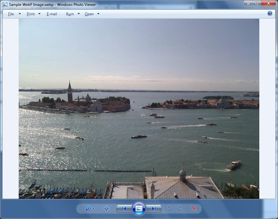 Windows Photo Viewer displaying WebP image