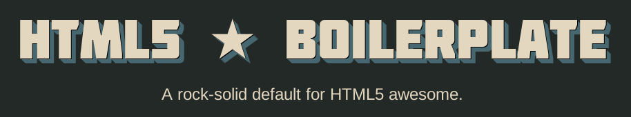 html5 boilerplate logo
