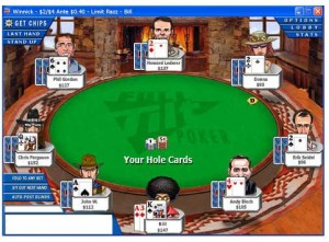 Razz Poker, here from a table at Full Tilt Poker