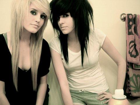 Blonde emo girl hair cuts