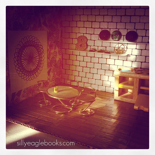 modern dollhouse kitchen