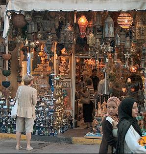Shopping street in Dahar, Hurghada, Egypt