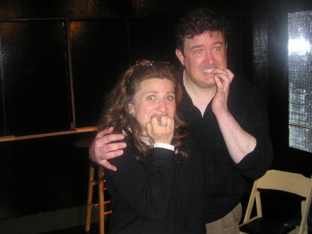 Fear Is Funny: Karl Tiedemann and Katha Cato at Sunday Night Improv.