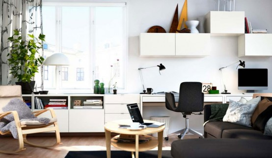 White wall Modern 2012 IKEA Living Room Design and Decorating Ideas