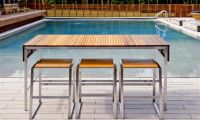 Outdoor Dining Table with Modern and Minimalist Contemporary Design by Edwin Blue