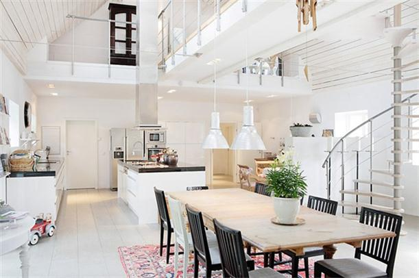 Beautiful kitchen Spacious and Bright Villa Design in Sweden