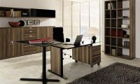 Minimalist Contemporary Oak Home Office Decorating Ideas by Hulsta