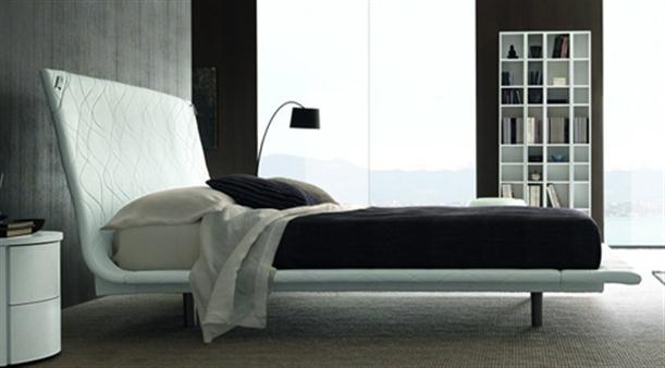 White Contemporary Italian Bending Bed