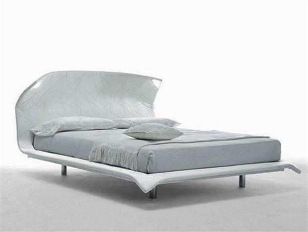 White and minimalist Contemporary Italian Bending Bed