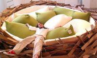 Unique Giant Bird Nest Like Bed Design