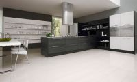 Simple and Minimalist Glossy Black and White Kitchen Design Ideas by Futura Cucine
