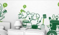 Funny Wall Sticker ~ Wall Decorating Ideas for Kids Bedroom
