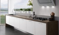 Contemporary Kitchen Design Ideas without Upper Cabinets