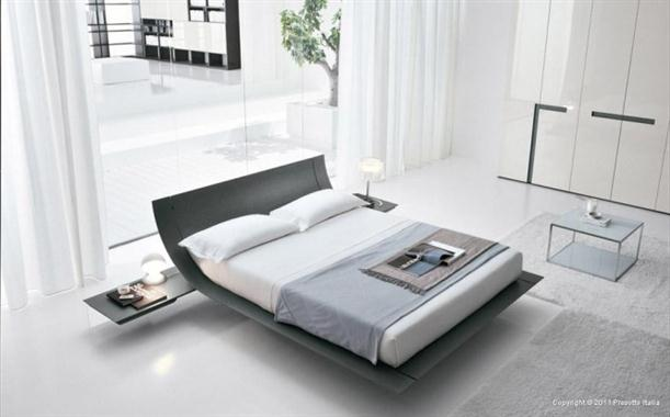 White grey Contemporary Bedrooms decorating From Presotto