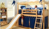Bunk Beds for Kids With Slides and Tent