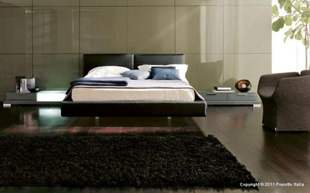 Wooden floor Contemporary Bedrooms decorating From Presotto