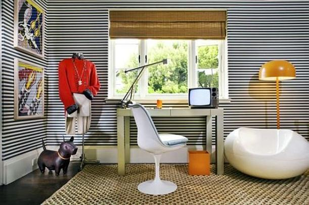 Working room wit Elegant and Modern Wallpapers Interior Decorating Ideas