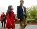 Former U.S. Ambassador to China and possible Republican Presidential candidate Huntsman walks with his daughter Mei in Manchester