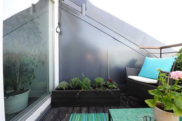 Rooftop garden Apartment Design with Fantastic Interior in Stockholm