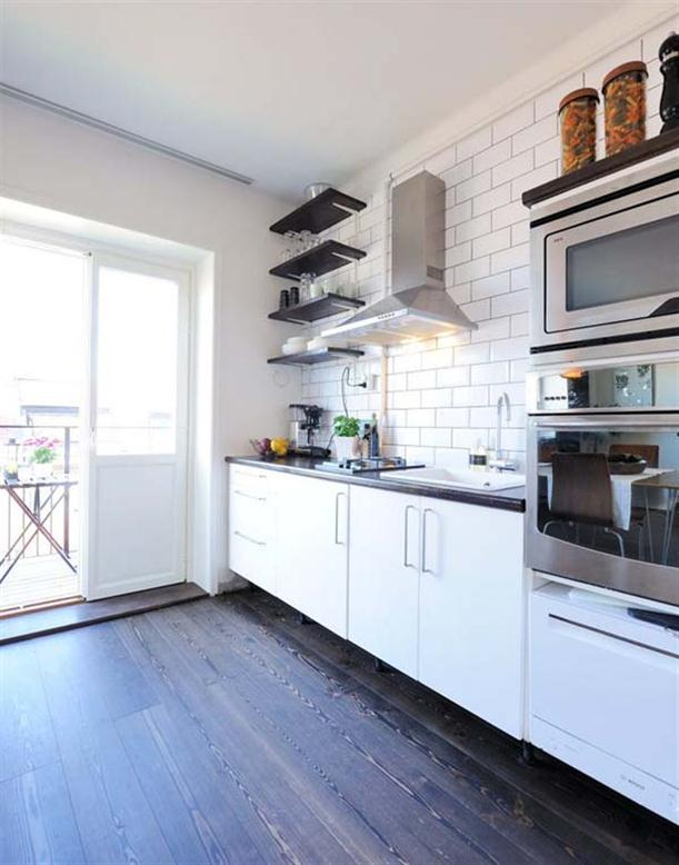 Kitchen cabinets at Apartment Design with Fantastic Interior in Stockholm