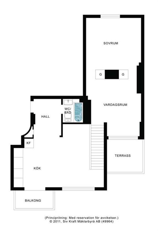 Site plan at Apartment Design with Fantastic Interior in Stockholm