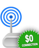 $0 Connection and Delivery