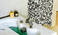 Contemporary and Stylish Pixilated Walls Bathroom Design Ideas