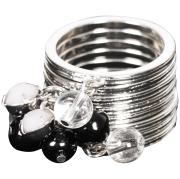 French Connection Stacked Ring Set - Rhodium