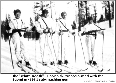 Suomi m/1931 Sub-Machine Gun ski troops finland snow winter war