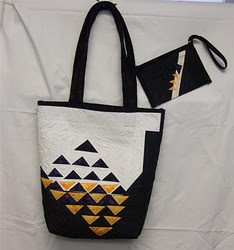 I Enter this Flying Geese Quilted Bag in the Contest.