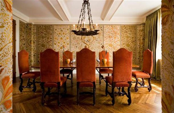 Dining area with Elegant and Modern Wallpapers Interior Decorating Ideas