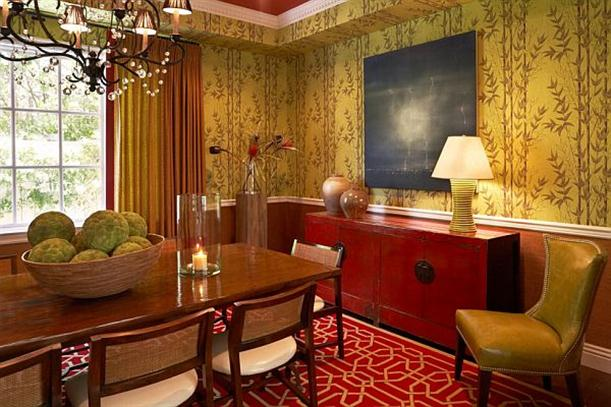 Dining room with Elegant and Modern Wallpapers Interior Decorating Ideas