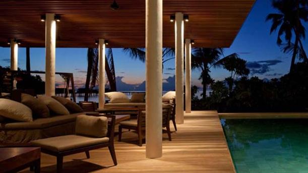 Lounge Area at Natural Contemporary Resort Design Alila Villas Hadahaa Maldives