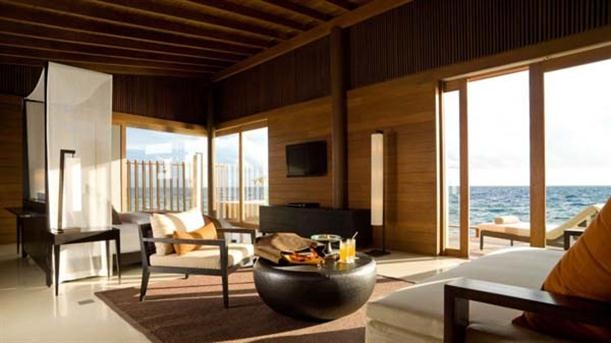 Interior Design of Natural Contemporary Resort Design Alila Villas Hadahaa Maldives
