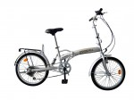 "20"" Suspension Folding Bike Silver"