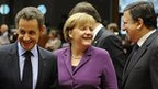 Leaders of France, Germany and European Commission at Brussels summit, 9 Dec 11