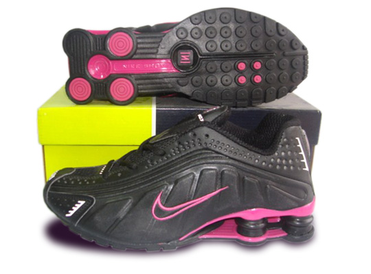 Nike Women's Shox R4 Shoes Black pink
