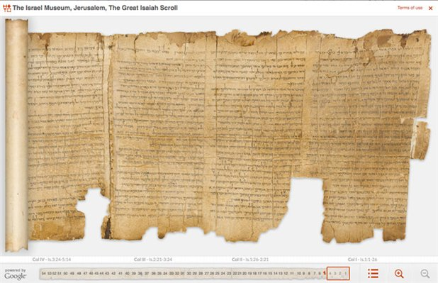 Google digitaliza manuscritos mar muerto