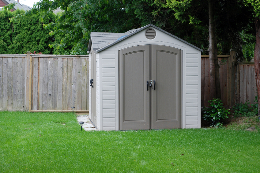 A Back Yard Storage Shed built from plans for sheds