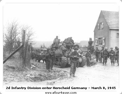 sherman tank herscheid germany 2d infantry division 2nd second