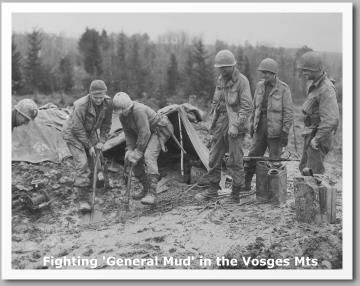 general mud vosges mountains mts wwii digging shovels gis