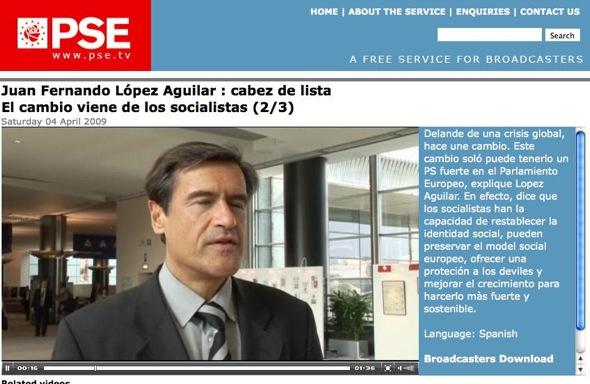 López Aguilar y la web de su partido