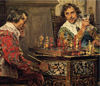 P.H. Andreis - Cavaliers Playing Chess