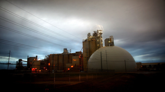 The Ash Grove Cement factory, which burns hazardous waste for fuel, is in compliance with EPA pollution standards.