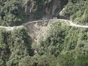Yungas road mountain bike accident accident