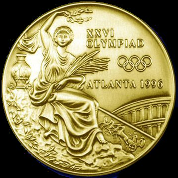 Olympic Medal, Atlanta 1996 - Laurel wreath on the olympic medals